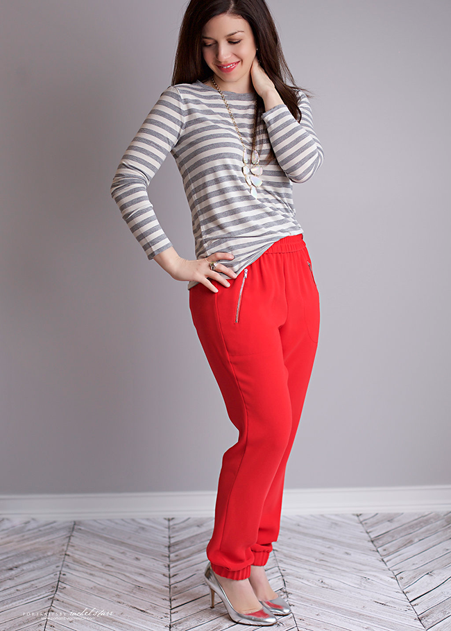 J-Crew-Red-Pants-Gap-Stripe-Tee