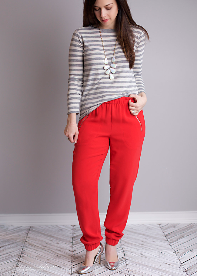 Red-pants-and-gap-striped-shirt