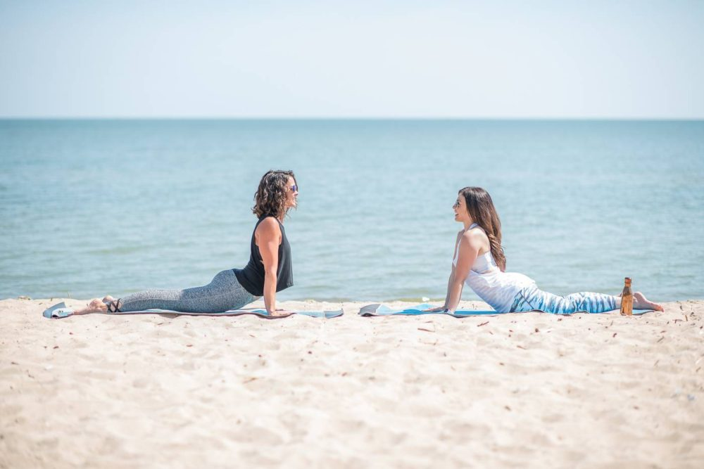 Post Natal Yoga Beach Yoga