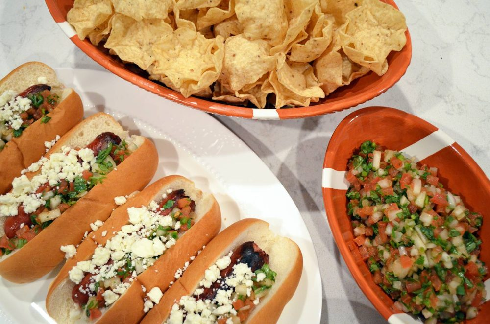 Super Bowl Recipe Inspiration: Tex Mex Ball Park Hot Dogs