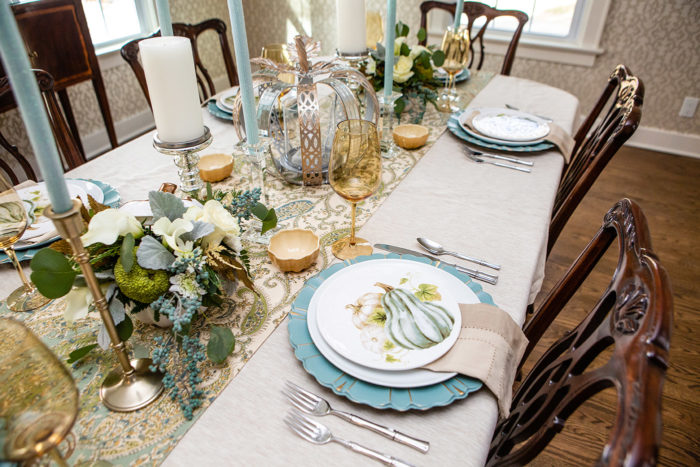 Stylish & Traditional Thanksgiving Table Decorations featured by top US lifestyle blog, The HSS Feed: pier 1 thanksgiving tabletop decor
