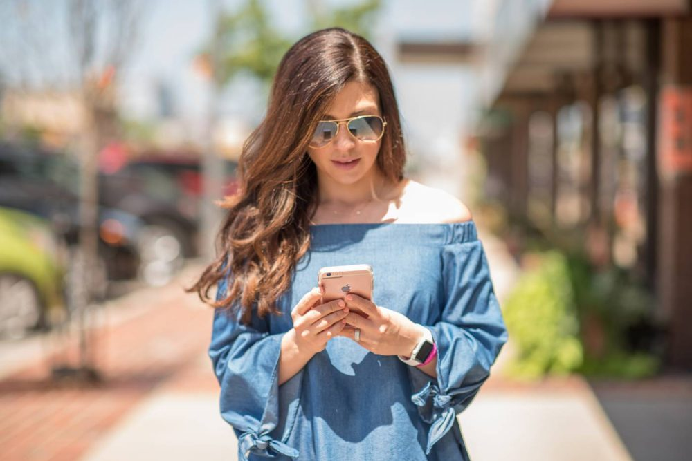 off the shoulder top ray ban sunglasses