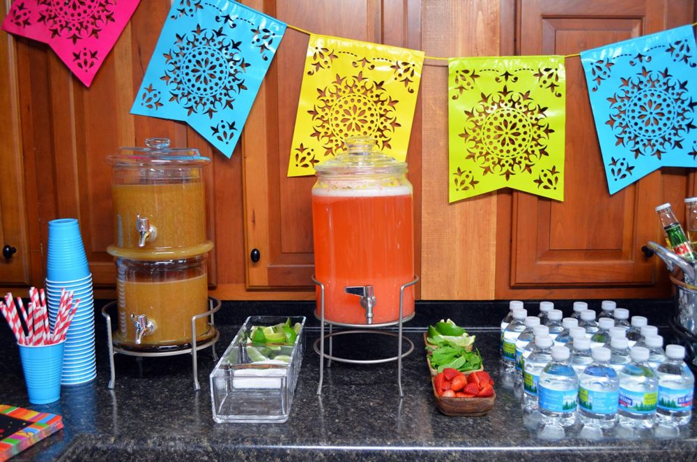 Fiesta Birthday Party by popular Michigan lifestyle blog, The HSS FEED: image of a fiesta drink bar.