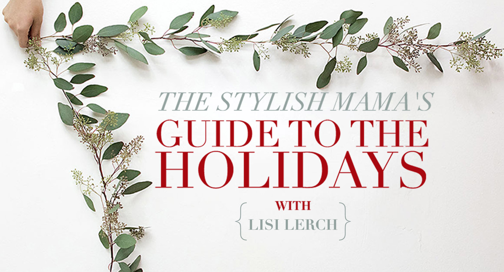 Lisi Lerch Earrings by popular Michigan fashion blog, The HSS Feed: image of a woman holding some eucalyptus garland.