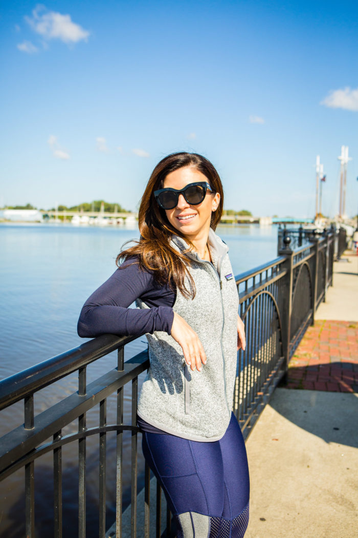 5 Top Tips to Overcome your Lack of Motivation to Exercise featured by top US life and style blog, The HSS Feed: workout motivation tips patagonia vest downtown bay city