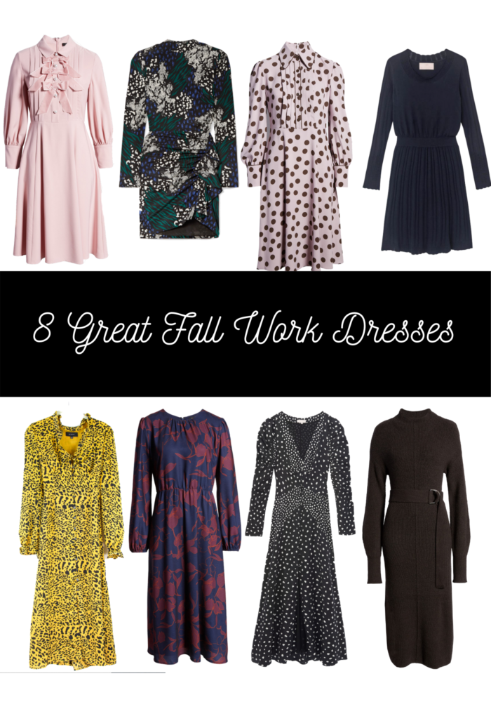 Fall Work Dresses with Sleeves featured by top US fashion blog, The HSS Feed