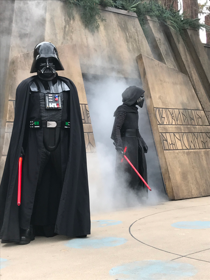 star wars party ideas | Star Wars Party Ideas by popular Michigan lifestyle blog, The HSS Feed: image of Star Wars characters at Disneyland.