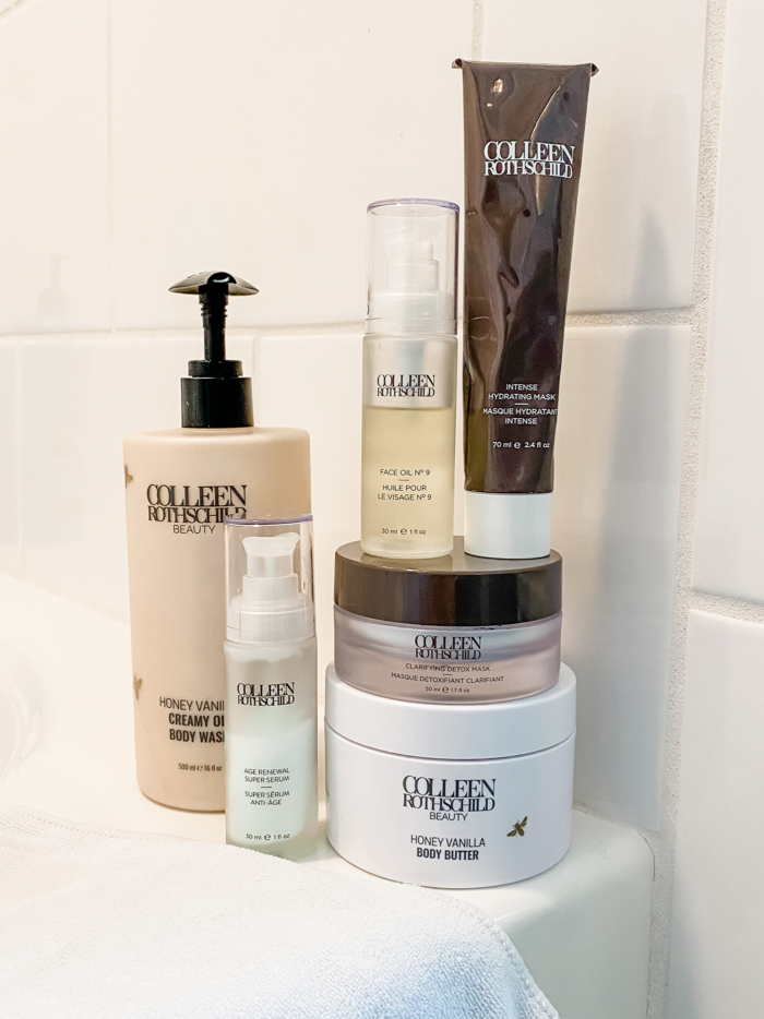 calming at home spa essentials   Home Spa Essentials by popular Michigan beauty blog, The HSS Feed: image of various Colleen Rothschild beauty products.
